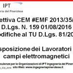 Campi elettromagnetici #EMF:  modifiche al DLGS 81-2008