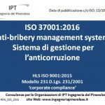 Anti-bribery management systems  – Anticorruzione