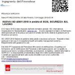 NUOVA ISO 45001:2018