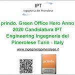 prindo. Green Office Hero Anno 2020 Candidatura IPT Ingegneria del Pinerolese Firefighting Safety Engineering