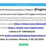 Nuovo canale Telegram di IPT Ingegneria del Pinerolese @ingpinerolese